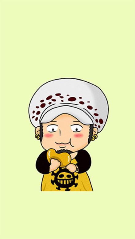 海贼王罗吃饼表情