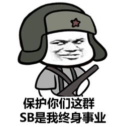 保护你们这群SB是我终身事业