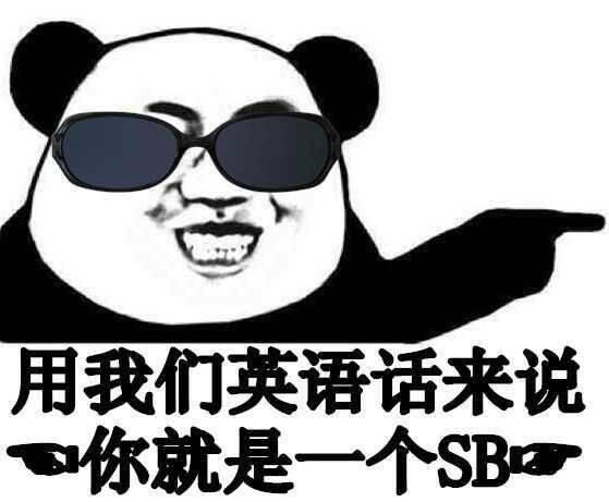 用我们英语话来说,你就是一个SB
