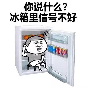 你说什么?冰箱里信号不好