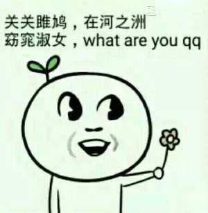 关关雎鸠,在河之洲 窈窕淑女 ,what are you qq
