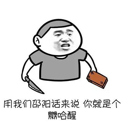 用我们邵阳话来说,你就是个嬲哈醒!
