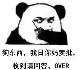 狗东西,我日你妈卖批,收到请回答,OVER(熊猫)