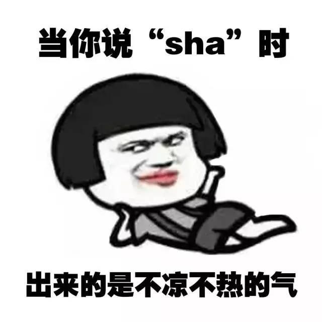 当你说『sha』时,出来的是不凉不热的气