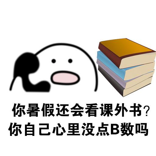 你暑假还会看课外书? 你自己心里没点B数吗