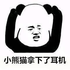 小熊猫拿下了耳机