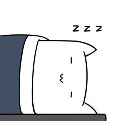 困了,睡了