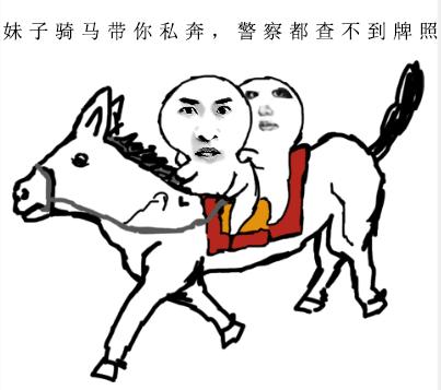 妹子骑马私奔,警察都查不到牌照